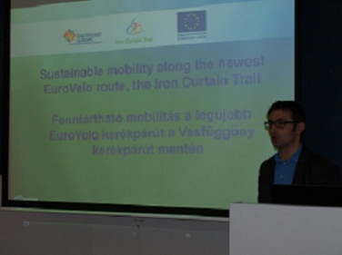 Presentation of ICT project at the National Partner Meeting in Győr